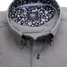 "Willsoor Pánská klasická košile London (výška 176-182) 6449 s černo-bílým ""pepito"" vzorem a formulí 2W Plus"