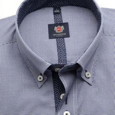 Willsoor Pánská klasická košile London 6500 s jemnou bílo-modrou kostkou a formulí Easy Care