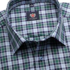 Willsoor Pánská klasická košile London (výška 176-182) 6257 s barevnou kostkou a formulí Easy Care