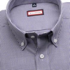 """Willsoor Pánská slim fit košile (výška 176-182) 6262 s """"pepito"""" vzorem a límečkem na knoflíčky"""