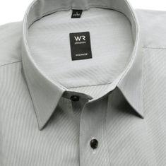 Willsoor Pánská klasická košile London (výška 188-194) 6242 v šedé barvě s jemným proužkem