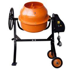 Max Stavebná miešačka 125 L s oceľovým ozubením oranžová
