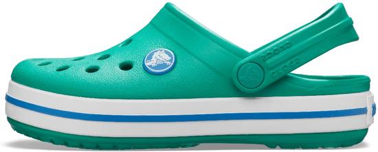 Crocs Crocband Clog K Deep Green/Prep Blue 204537-3TV-J2, 33-34, zelené