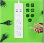 5 - Tellur Wi-Fi pametna razdelilna letev, 3x 220, 4x USB, 2200 W, 10 A