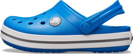 Crocs Crocband Clog K otroški natikači Bright Cobalt/Charcoal 204537-4JN, 24-25, modri