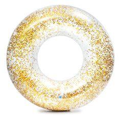 Intex 56274 Kruh plovací flitrový zlatý