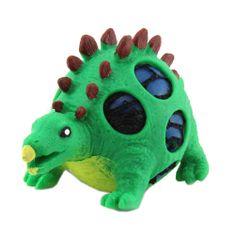 Dino World ASST stiskalna figurica, Stegosaurus, zelen