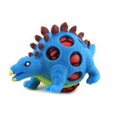 Dino World ASST stiskalna figurica, Stegosaurus, modre barve