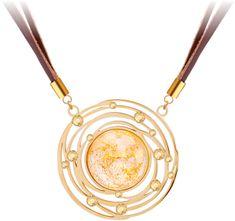 Preciosa Bőr nyaklánc aranykristályos Mays 7357Y50