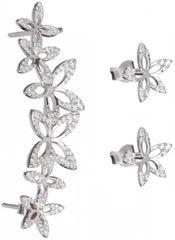 Preciosa Asymetrické kvetinové náušnice - ĽAVÉ - Cleopatra`s Secret 5207 00L striebro 925/1000