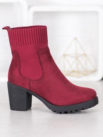 Női bokacipo 61306 + Nőin zokni Sophia 2pack visone, piros árnyalat, 37