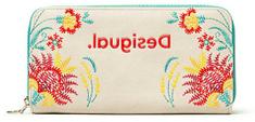 Desigual Krémszínű női pénztárca Adaggio Zip Around 20SAYP16