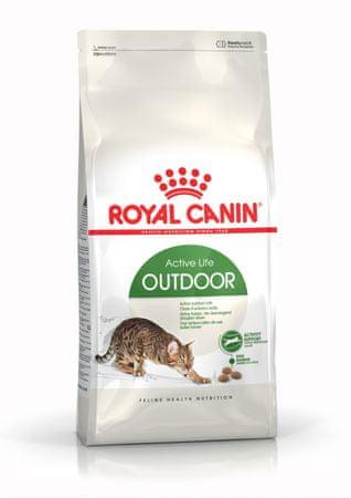 Royal Canin briketi za aktivne odrasle mačke Outdoor, 10 kg