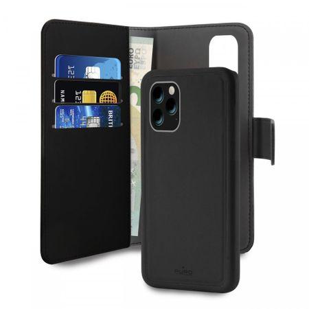 Puro Book C3 ovitek za iPhone 11 Pro, 2 v 1, črn