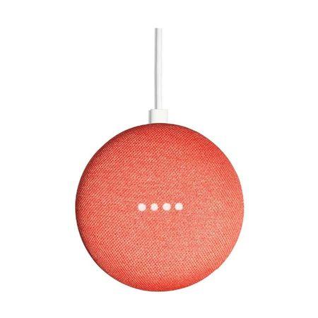 Google Home Mini pametni hišni asistent, rdeč