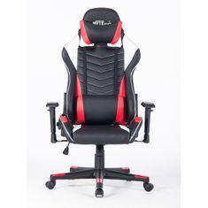 Bytezone Winner gaming stol, z LED osvetlitvijo, črn/rdeč