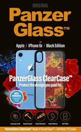 PanzerGlass ClearCase ovitek za Apple iPhone Xr Black Edition 0220