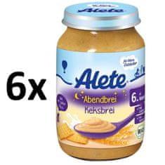 ALETE BIO večerná kaša so sušienkami 190 g (6x190g)