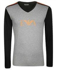 Emporio Armani Pánské tričko 111855 9A529 06749 černošedá - Emporio Armani