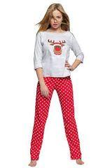 Sensis Dámské pyžamo Marry Christmas šedočervená - Sensis