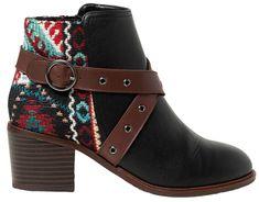 Desigual Dámske členkové topánky Shoes Alaska Tapestry Negro 19WSAP04 2000