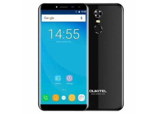 Oukitel C8 PRO 4G černý 2/16GB, 4jádro, otisk, záruka 25 měsíců a servis