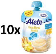 ALETE Krupicová kaša s príchuťou vanilky 85 g (10x85 g)