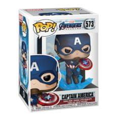 Funko POP! Avengers: Endgame figura, Captain America w/Broken Shield & Mjölnir #573