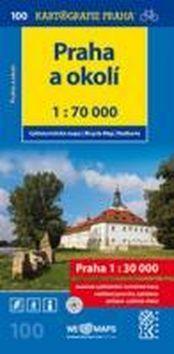 Praha a okolí 1:70 000 - Cyklomapa č. 100