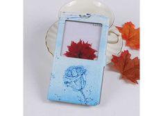 Symfony Pouzdro pro DOOGEE X10, flip okénko modrá růže