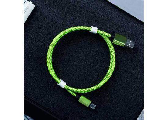 Symfony A3T kabel lightning pro Apple iPhone 3m, textil zelená