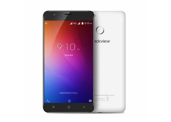 Blackview E7 4G LTE 16GB ROM otisk 2700mAh SD bílý pěkný