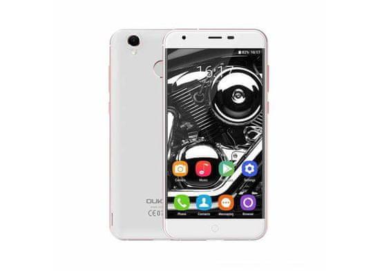 """Oukitel K7000 4G LTE 16GB ROM SD otisk kovový 5"""" menší pěkný telefon"""