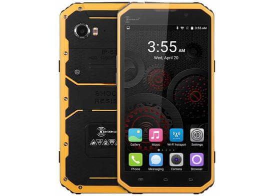 Kenxinda W9 žlutý, 2/16GB, LTE, outdoorový a IP68, záruka 25 měsíců a servis