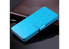 Symfony Kožené pouzdro flipové pro telefon Oukitel Mix 2, nebesky modré