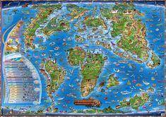 Dinosauři a prehistorický svět - Ilustrovaná mapa pro děti