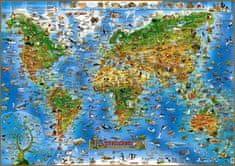 Živočichové celého světa - Ilustrovaná mapa pro děti