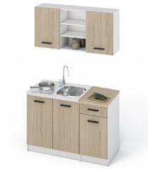Kuchyně MALEN, 120 dub sonoma/bílá