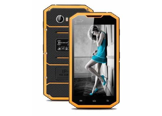 Kenxinda W7 žlutý, 1/16GB, LTE, ooutdoorový a IP68, záruka 25 měsíců a servis