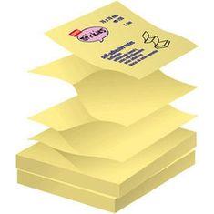 Staples blokec z Z samolepilnimi lističi v rumeni barvi, 100 lističev, 76 x 76 mm