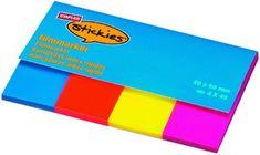 Staples samolepilni označevalci, 4 barve, 20 x 38 mm