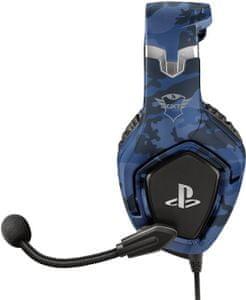 Słuchawki do gier Trust GXT 488 Forze-B (23532), 50 mm konwertery, pleciony przewód dualshock4, elastyczny mikrofon, ergonomiczny design, miękkie nauszniki