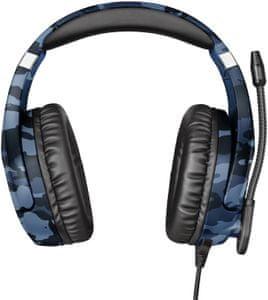 Słuchawki do gier Trust GXT 488 Forze-B (23532), 50 mm konwertery, pleciony przewód dualshock4, elastyczny mikrofon, regulacja głośności i mikrofonu