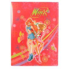 Winx Club Dosky na dokumenty A4 Winx Club, Dosky na dokumenty A4 40 vreciek WinX Bloom&Flora tmavoružová