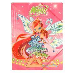 Winx Club Dosky s gumičkou Winx Club, Dosky 25x35 s gumičkou Bloom s krídlami ružová