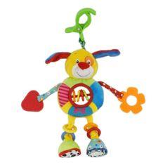 Baby Mix Detská plyšová hračka s hrkálkou Baby Mix psíček Zelená