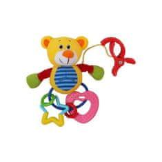 Baby Mix Plyšová hračka s chrastítkem Baby Mix medvěd Žltá