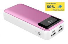 Platinet PMPB10XL, prijenosna baterija, 10000 mAh, roza