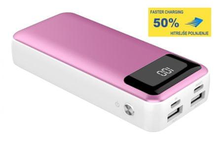Platinet PMPB10XL prenosna baterija, 10000 mAh, roza