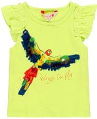 Boboli Dívčí tričko krátký rukáv papoušek